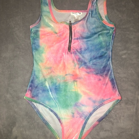 Other - iHeartRaves Tie Dye body suit